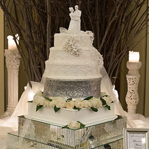 Beautiful Wedding Cake - Stroudsmoor Country Inn Wedding Sampling Event