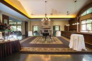 Terraview buffet table and large entertainment area