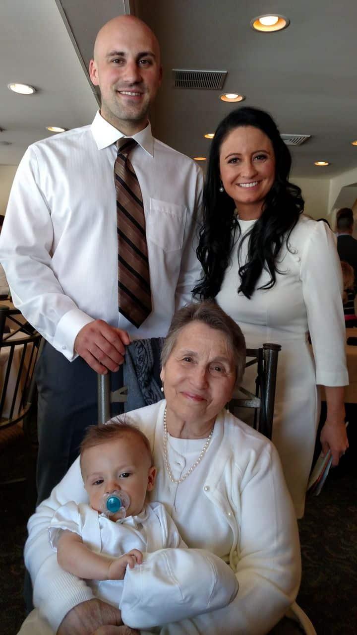 mom at leos christening