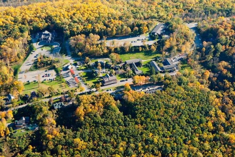 Aerial view of Stroudsmoor Country Inn