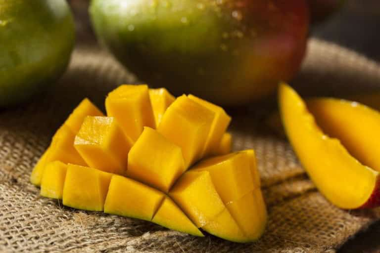Organic Colorful Ripe Mangos