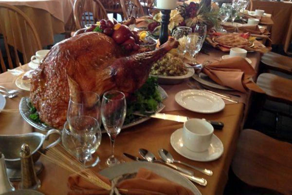 Thanksgiving dinner at Stroudsmoor Country Inn